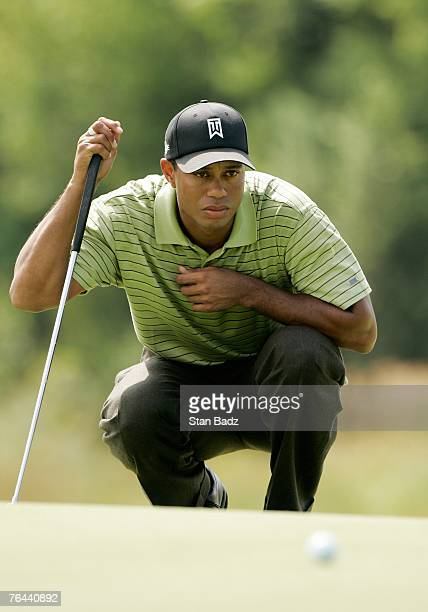 Tiger Woods at the second green during the first round of the Deutsche Bank Championship at TPC Boston, August 31 in Norton, Massachusetts.