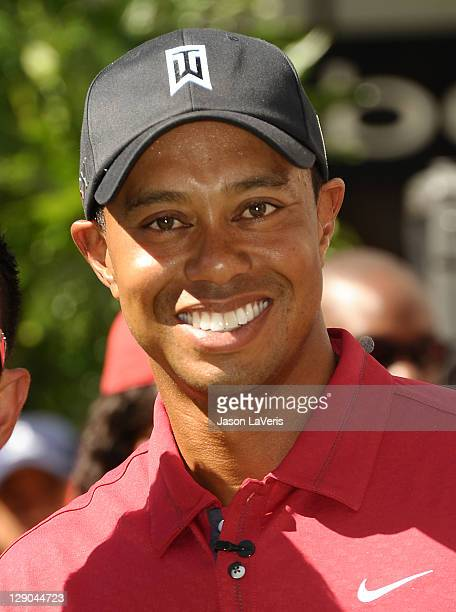 Tiger Woods attends the Chevron World Challenge press event at Hollywood & Highland Courtyard on October 11, 2011 in Hollywood, California.