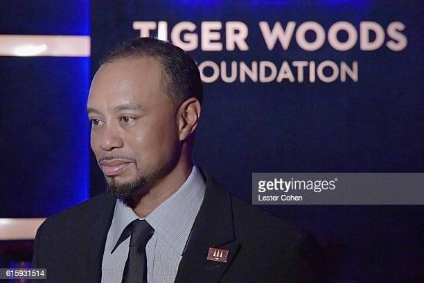 Tiger Woods attends Tiger Woods Foundation's 20th Anniversary Celebration at the New York Public Library on October 20 2016 in New York City