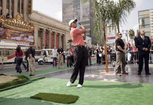 EA Sports Celebrates the Launch of 'Tiger Woods PGA Tour 07' with Tiger Woods Teeing-Off at Grauman's Chinese Theatre