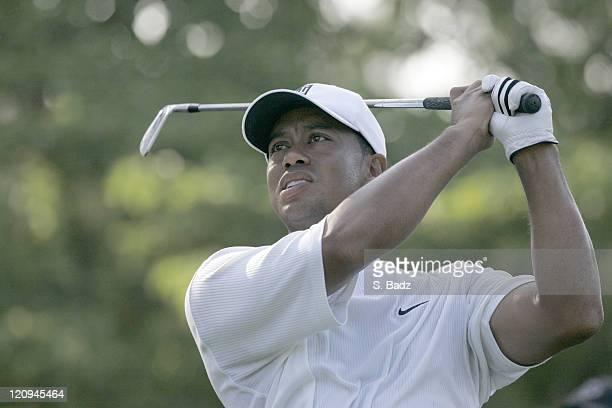 Tiger Woods during practice for the 2005 US Open Golf Championship at Pinehurst Resort course 2 in Pinehurst North Carolina on June 15 2005