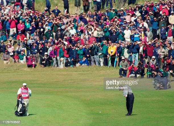 Tiger Woods during the 127th British Open Golf at Royal Birkdale GC in Southport 16th-19th July 1998.