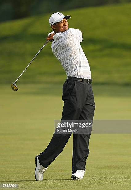 Tiger Woods during the AT&T National Earl Woods Memorial Pro-Am at Congressional Country Club on July 4, 2007 in Bethesda, Maryland.