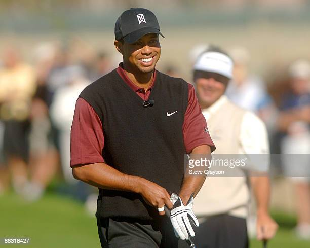 Tiger Woods during the final round of the 2005 Merrill Lynch Skins Game at Trilogy Golf Club at La Quinta in La Quinta, California November 27, 2005.