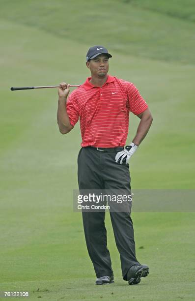 Tiger Woods during the final round of the 2006 WGC-Bridgestone Invitational held on the South Course at Firestone Country Club in Akron, Ohio, on...