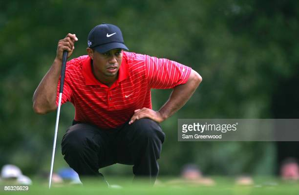 Tiger Woods during the final round of the 2006 WGCBridgestone Invitational held on the South Course at Firestone Country Club in Akron Ohio on August...