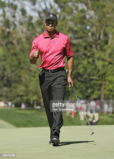 Tiger Woods during the final round of the 2007 Wachovia Championship held at Quail Hollow Country Club in Charlotte North Carolina on May 6 2007