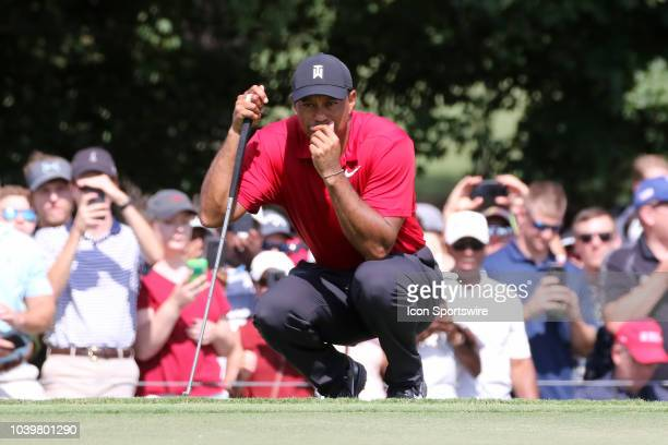 Tiger Woods during the final round of the Tour Championship on September 23 at East Lake Golf Club in Atlanta GA