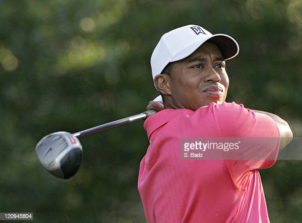 Tiger Woods during the first round of the 2005 US Open Golf Championship at Pinehurst Resort course 2 in Pinehurst North Carolina on June 16 2005