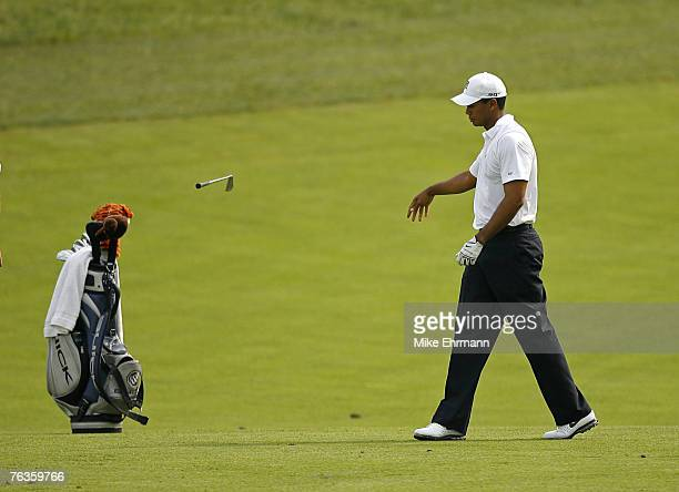 Tiger Woods during the first round of the Memorial Tournament Presented by Morgan Stanley held at Muirfield Village Golf Club in Dublin Ohio on May...