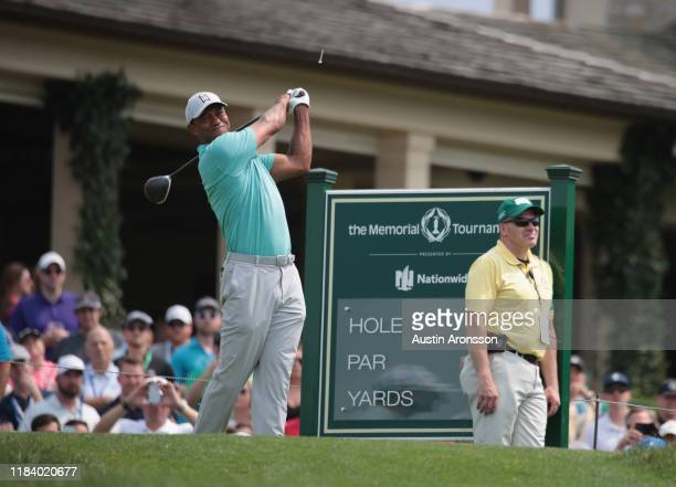 Tiger Woods during The Memorial Tournament Presented by Nationwide at Muirfield Village Golf Club on May 30, 2019 in Dublin, Ohio.