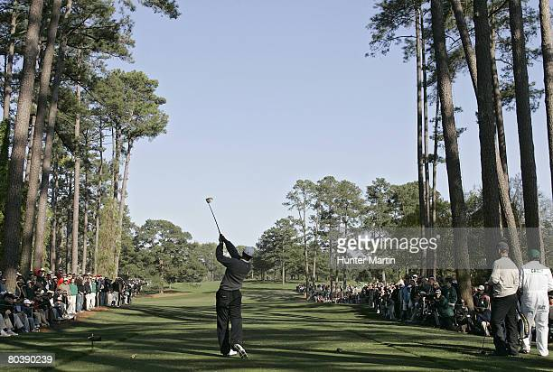 Tiger Woods during the third round of the 2007 Masters at the Augusta National Golf Club in Augusta, Georgia, on April 7, 2007.
