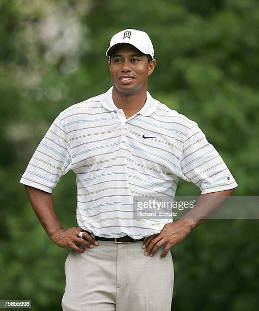 Tiger Woods during the third round of the 2007 Wachovia Championship held at Quail Hollow Country Club in Charlotte North Carolina on May 5 2007