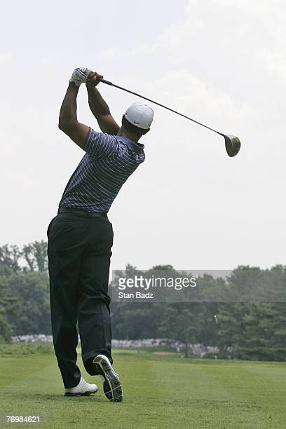 Tiger Woods during the third round of the ATT National held at Congressional Country Club in Bethesda Maryland on July 7 2007