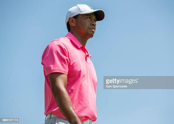 Tiger Woods during the third round of the Memorial Tournament at Muirfield Village Golf Club in Dublin Ohio on June 02 2018