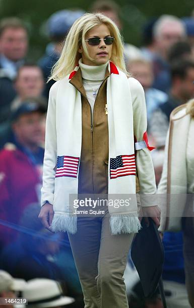 Tiger Woods' girlfriend Elin Nordegren during the morning foursomes on the second day of the 34th Ryder Cup matches between Europe and the USA at the...