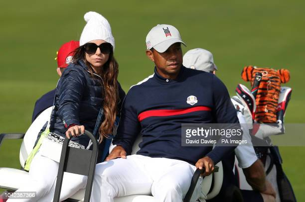 Tiger Woods girlfriend Erica Herman after the Fourballs match on day one of the Ryder Cup at Le Golf National SaintQuentinenYvelines Paris