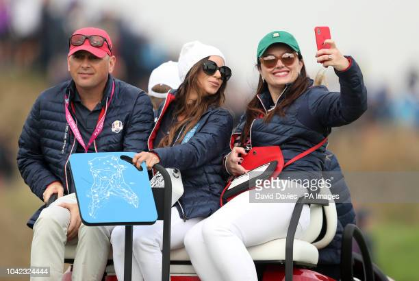 Tiger Woods girlfriend Erica Herman during the Fourballs match on day one of the Ryder Cup at Le Golf National SaintQuentinenYvelines Paris