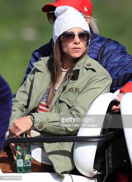 Tiger Woods girlfriend Erica Herman during the Fourballs match on day two of the Ryder Cup at Le Golf National SaintQuentinenYvelines Paris