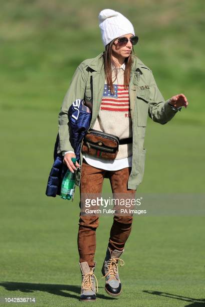 Tiger Woods girlfriend Erica Herman during the Foursomes match on day two of the Ryder Cup at Le Golf National SaintQuentinenYvelines Paris