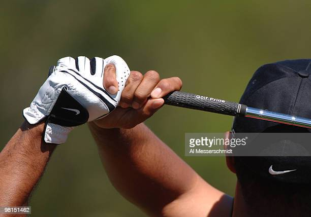 Tiger Woods golf grip during play in the 2005 Tavistock Cup at Isleworth Country Club March 29