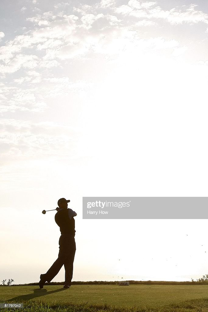 Tiger Woods hits a shot during the third round of the 108th U.S. Open at the Torrey Pines Golf Course (South Course) on June 14, 2008 in San Diego, California.