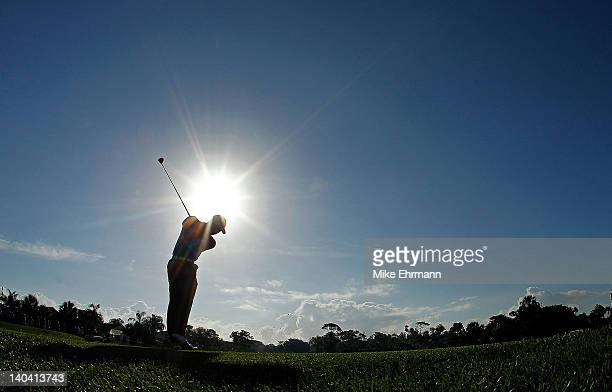 Tiger Woods hits his tee shot on the 12th hole during the second round of the Honda Classic at PGA National on March 2 2012 in Palm Beach Gardens...