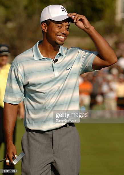 Tiger Woods in action during the first round of the Merrill Lynch Skins Game at Trilogy Golf Club at La Quinta in La Quinta California November 26...