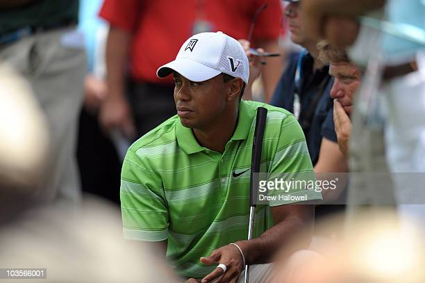 Tiger Woods looks on during the second round of the AT&T National at Aronimink Golf Club on July 2, 2010 in Newtown Square, Pennsylvania.