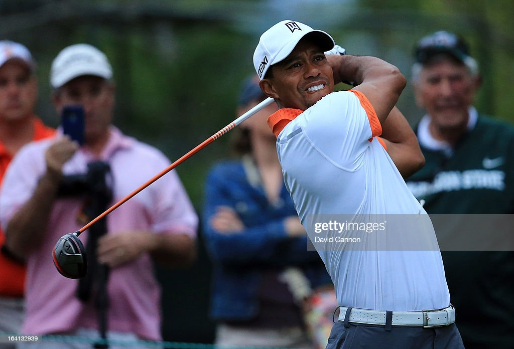 Tiger Woods of the United States during the pro-am for the 2013 Arnold Palmer Invitational Presented by Mastercard at Bay Hill Golf and Country Club on March 20, 2013 in Orlando, Florida.