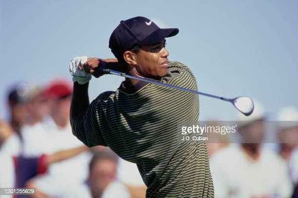 Tiger Woods of the United States on his way to his first professional golf tournament win at the PGA Las Vegas Invitational on 5th October 1996 at...
