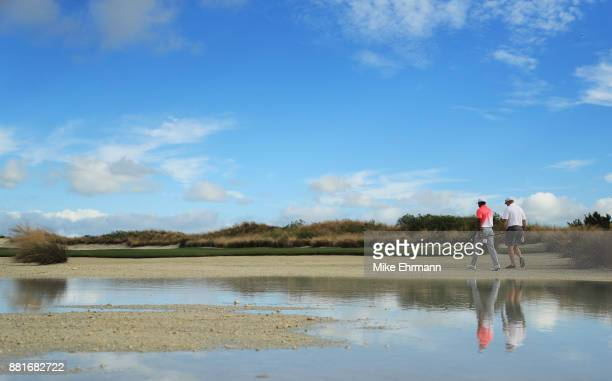 Tiger Woods of the United States walks during the pro-am prior to the Hero World Challenge at Albany, Bahamas on November 29, 2017 in Nassau, Bahamas.