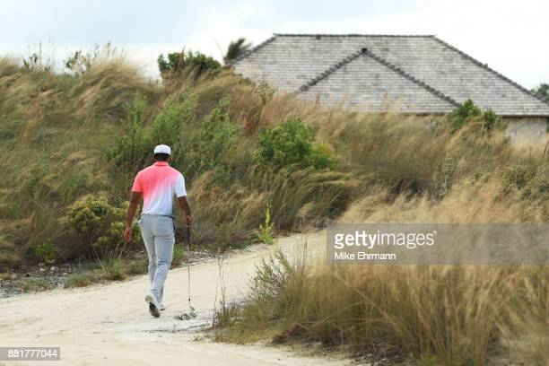 Tiger Woods of the United States walks during the proam prior to the Hero World Challenge at Albany Bahamas on November 29 2017 in Nassau Bahamas
