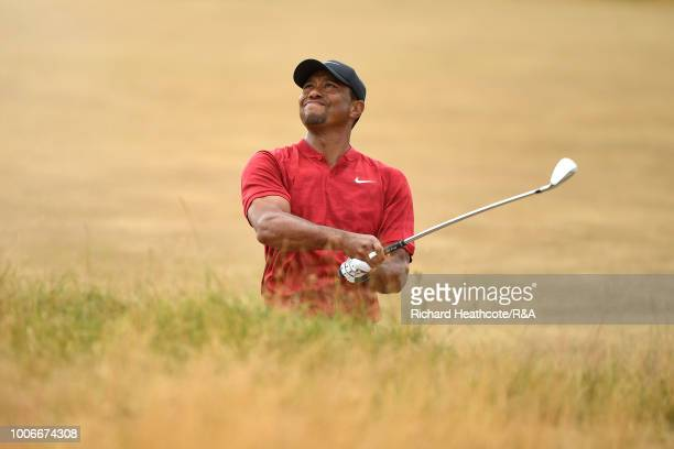 Tiger Woods of the USA in action during the final round of the Open Championship at Carnoustie Golf Club on July 22, 2018 in Carnoustie, Scotland.