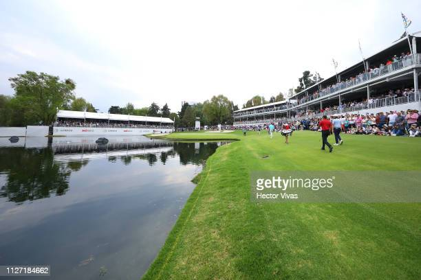 Tiger Woods of United States walks into the 17th hole during the final round of World Golf ChampionshipsMexico Championship at Club de Golf...