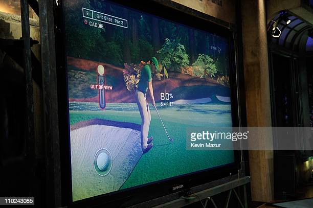 """Tiger Woods PGA Tour 12: The Masters video game debuts on """"Late Night with Jimmy Fallon"""" at Rockefeller Center on March 16, 2011 in New York City."""