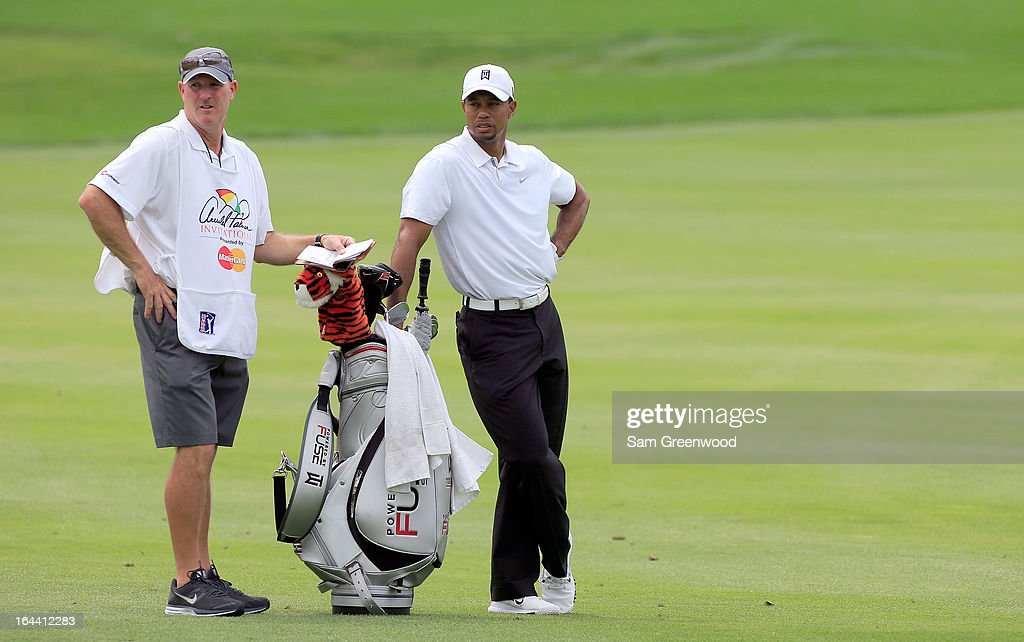 Tiger Woods plays a shot on the 3rd hole during the third round of the Arnold Palmer Invitational presented by MasterCard at the Bay Hill Club and Lodge on March 23, 2013 in Orlando, Florida.