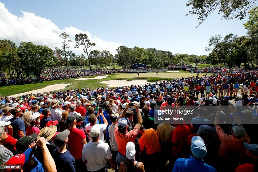 Tiger Woods putts on the fourth green during the final round of the Valspar Championship at Innisbrook Resort Copperhead Course on March 11, 2018 in Palm Harbor, Florida.