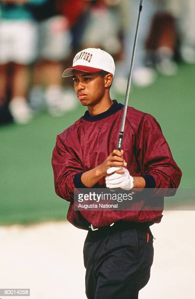 Tiger Woods Swings During The 1995 Masters Tournament