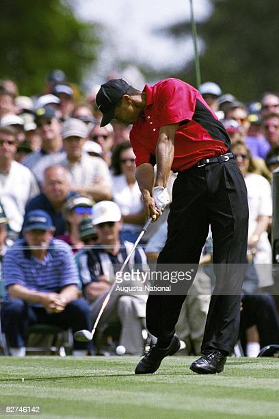 Tiger Woods tees off during the 1997 Masters Tournament at Augusta National Golf Club on April 1013 1997 in Augusta Georgia