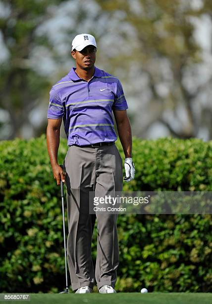 Tiger Woods tees off on during the third round of the Arnold Palmer Invitational presented by MasterCard held at Bay Hill Club and Lodge on March 28,...