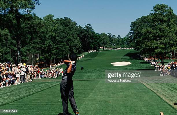Tiger Woods Tees Off On The 8th Hole During The 2000 Masters Tournament