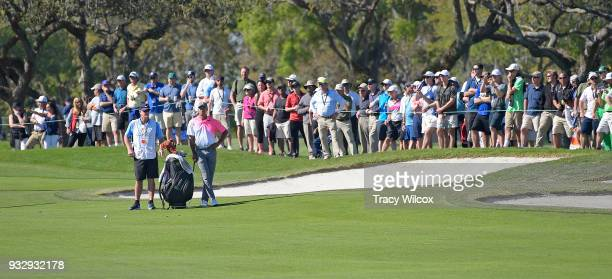Tiger Woods waits to hit a shot at hole No 13 during the second round of the Arnold Palmer Invitational presented by MasterCard at Bay Hill Club and...