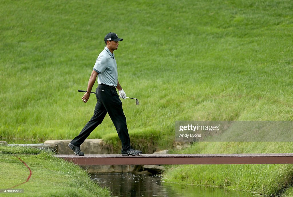 Tiger Woods walks to the green on the 14th hole during the second round of The Memorial Tournament presented by Nationwide at Muirfield Village Golf Club on June 5, 2015 in Dublin, Ohio.