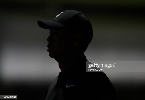 Tiger Woods warms up on the putting green during practice for the Tour Championship at East Lake Golf Club on September 19 2018 in Atlanta Georgia