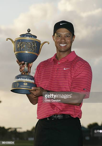 Tiger Woods wins the WGCCA Championship held on the Blue Course at Doral Golf Resort and Spa in Doral Florida on March 25 2007