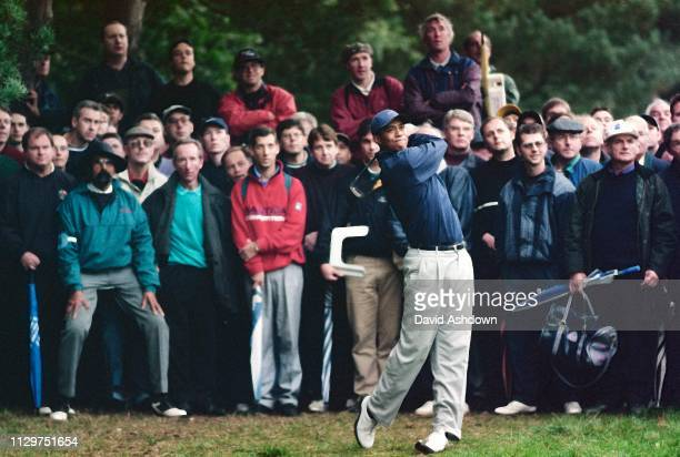Tiger Woods with the crowd watching Cisco World Match Play golf at the Wentworth Club England 1518th October 1998