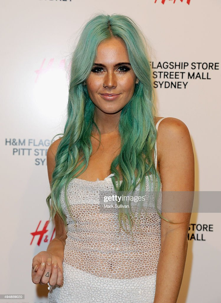 Tigerlily arrives at the H&M Sydney Flagship Store VIP Party on October 29, 2015 in Sydney, Australia.