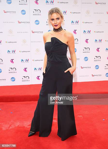 Tigerlily arrives for the 30th Annual ARIA Awards 2016 at The Star on November 23 2016 in Sydney Australia