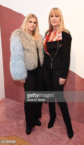TigerLily Tayler and Deborah Leng attend the Charlotte Simone presentation during London Fashion Week Autumn/Winter 2016/17 at Scream Gallery on...